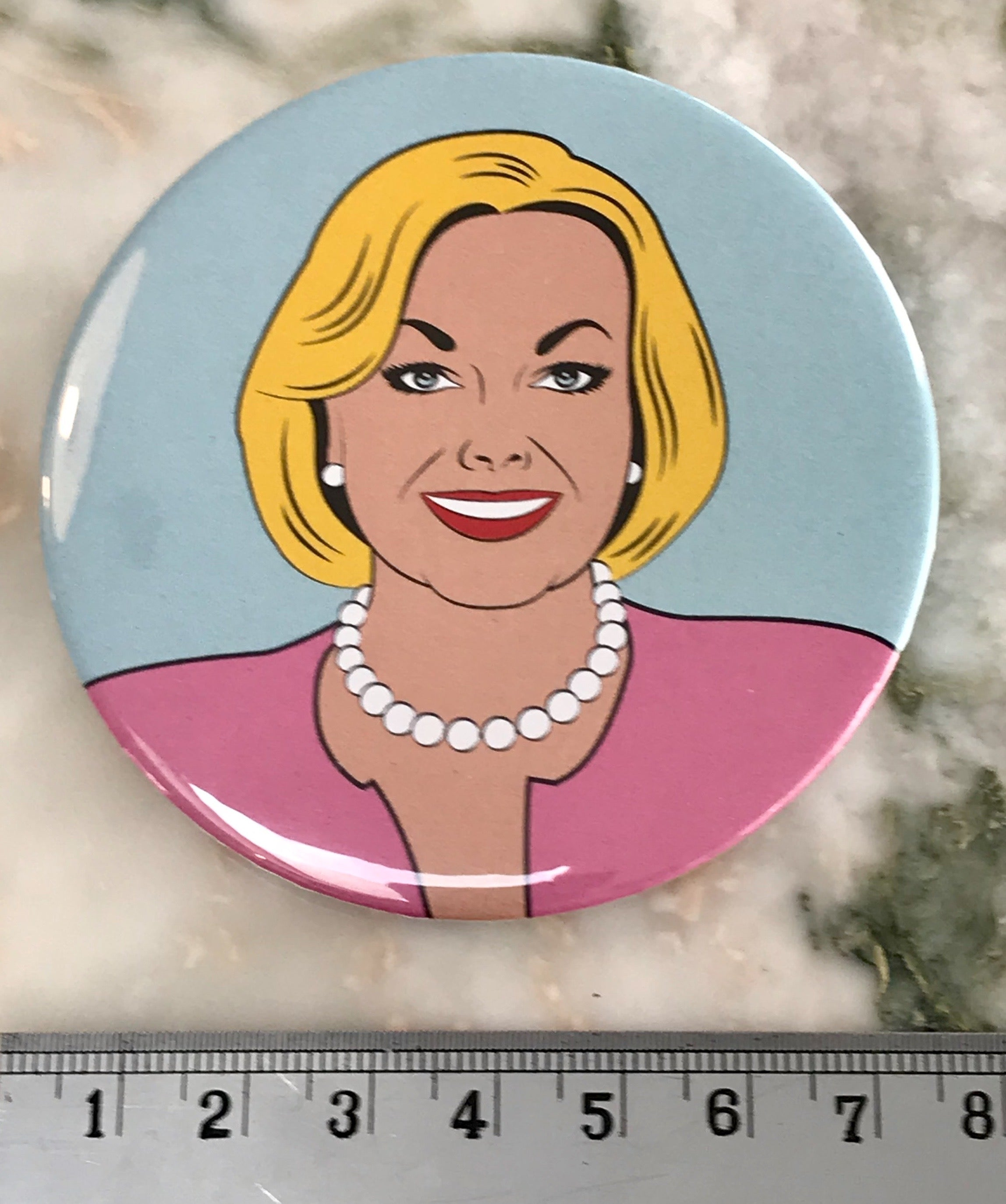 Judylicious Badge - 75mm diam