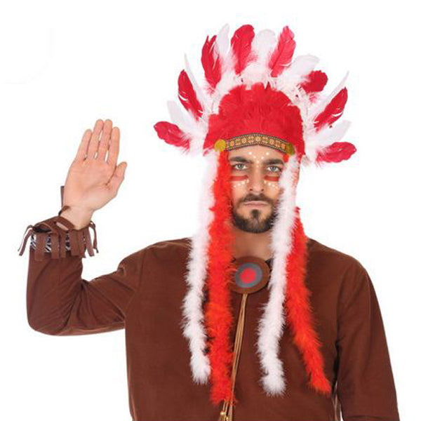 Indian Headdress Red