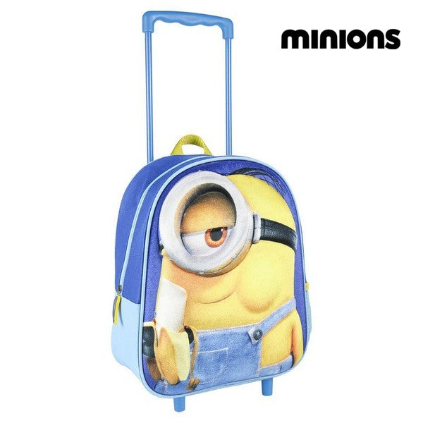 3D School Bag with Wheels Minions