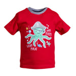 SALT AND PEPPER Baby - Jungen T-Shirt T-Shirt Ahoy uni Print Stick