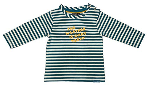 Babyface Baby Junge Langarmshirt The Weather is OKAY Today 0127623, Emerald
