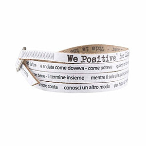 We Positive ARMBAND MY SONG FOR LIGABUE L'AMORE CONTA COL. BIANCO MY432