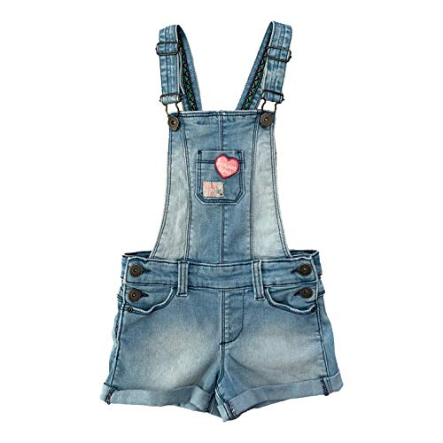 Quapi Sugar Mädchen Latzshort, Light Denim