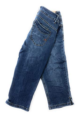 Buena Vista Damen Jeans Malibu-Capri Stretch Denim Roughed Denim