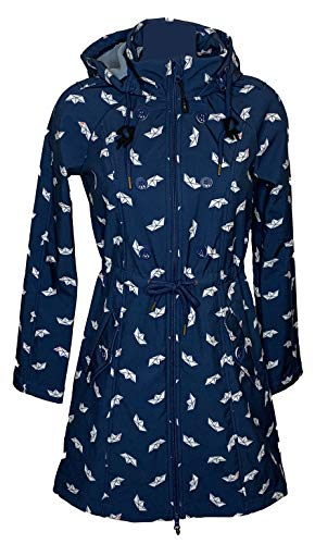 Blutsgeschwister Swallowtail Promenade Coat Bonnies Ocean Softshell Damen