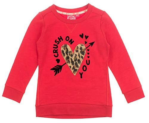 Jubel Sweatshirt aus Sommersweat/French Terry in Rot mit Herz Stick im Leo Design 0200