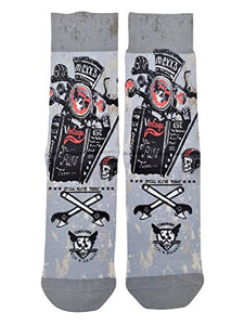 Wigglesteps Men Socks Moto Gang, one Size 41-46