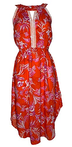 Blutsgeschwister Summer Goddess Robe Tangerine Tropical, Bodenlanges Kleid