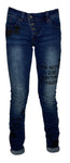 Buena Vista Damen Jeans Malibu Stretch Denim, blue word 2242