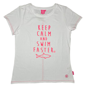 "Salzhaut Damen T-Shirt ""KEEP CALM AND SWIM FASTER"""