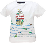 SALT AND PEPPER Baby - Jungen T-Shirt T-Shirt Ahoy uni Print Schiff