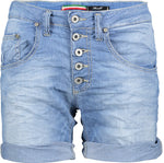 Please Damen kurze Jeans-Shorts Bermudas P88A - FS1E13