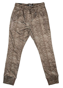 Zhrill Damen Joggpant Stoffhose Anzugshose Tapered Cropped Slim Fit Fabia, N2005 brown