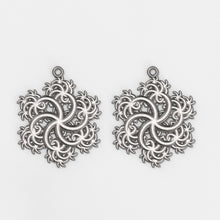 Load image into Gallery viewer, Six-Pointed Earrings Silver