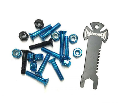 Independent - Bolts Phillips (Pk 10 with Tool) Blue/Black 1 IN
