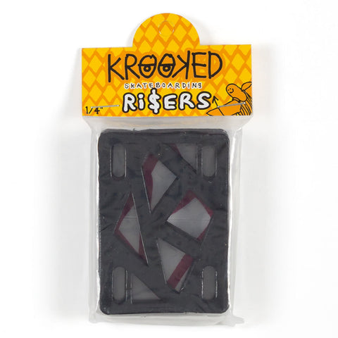 Krooked - Risers (Pack of 2) Black 1/4 IN