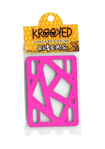 Krooked - Risers (Pack of 2) Hot Pink 1/8 IN