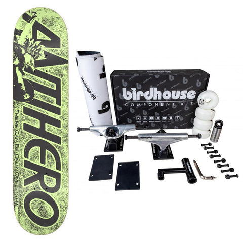 Anti Hero Complete Skateboard Highlander Hero Green Deck 8.06 Birdhouse Component Kit