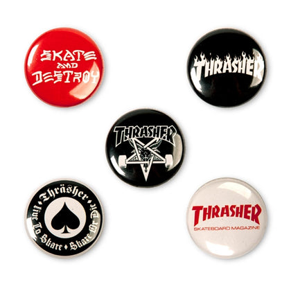 Thrasher - Badges Logo Buttons (5 pack)