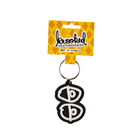 Krooked - Eyes Keychain Black/White