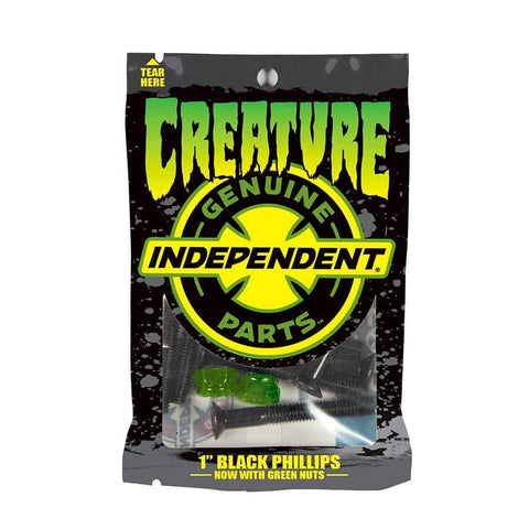 "Creature  - CSFU Independent Genuine Parts Hardware 1"" Phillips  - Black/Green"