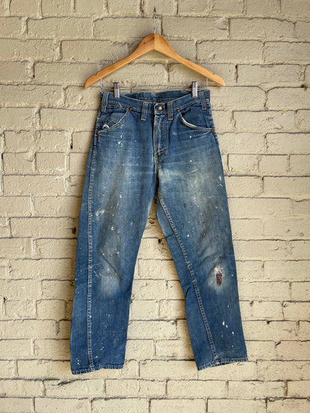 "1950s Red Snap Jeans - 28"" Waist - Shop Cat And Cobra"