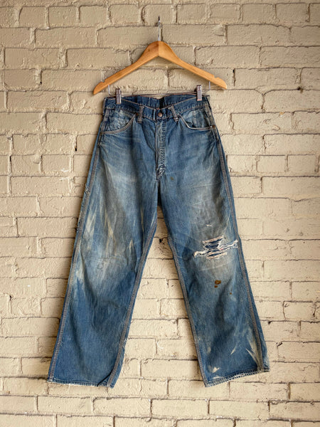 "1950s Pioneer Brand Carpenter Jeans - 30"" Waist - Shop Cat And Cobra"