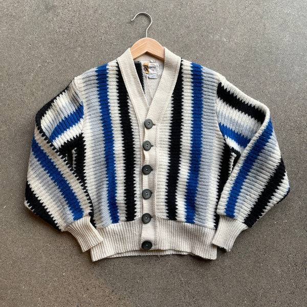 1950s Penney's Zig Zag Stripe Sweater - Shop Cat And Cobra