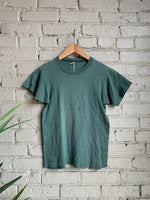 1950s Green Faded Tee - Shop Cat And Cobra