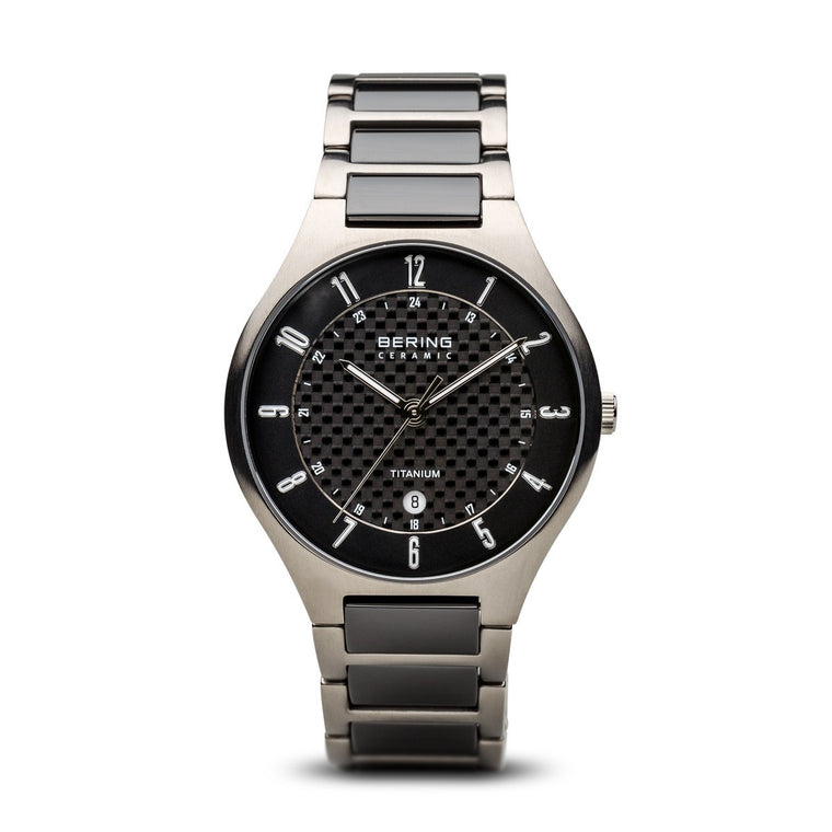 Bering Mens Classic Titanium Brushed Silver Watch 11739-702