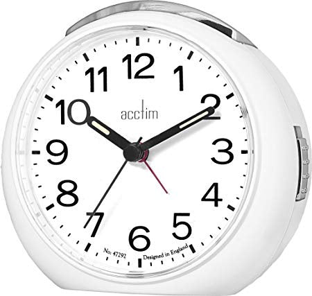 "Acctim ""Abella"" Alarm Clock in White 15552 - Robert Openshaw Fine Jewellery"