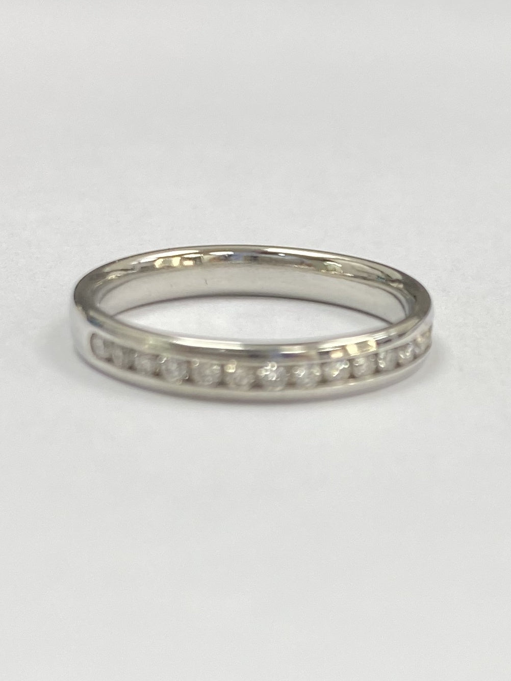 Platinum 0.25cts Diamond Half Eternity Ring