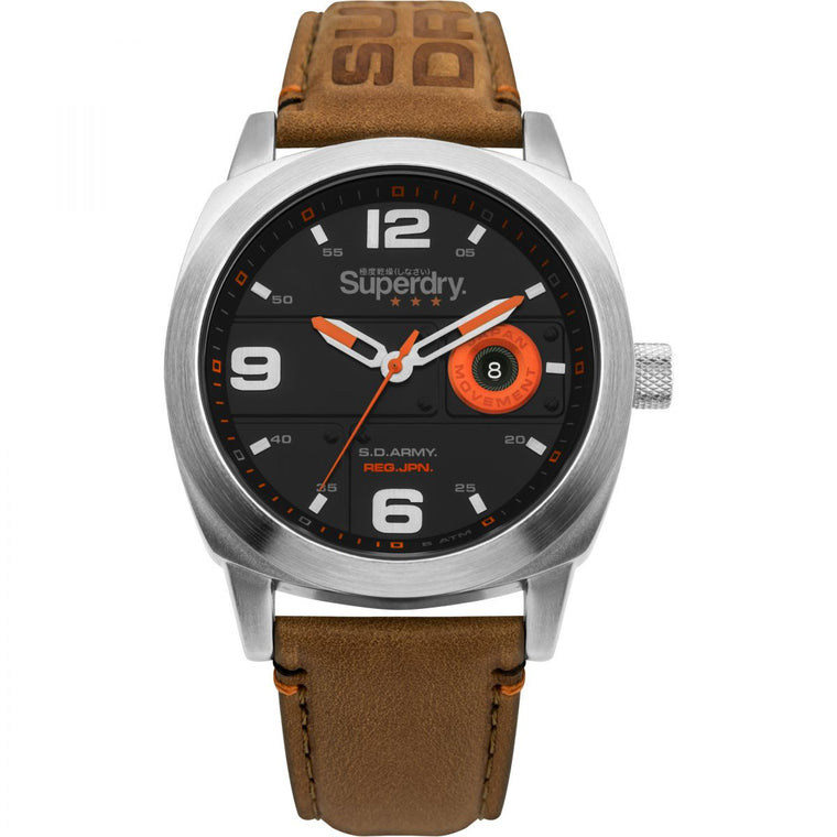 Superdry Corporal Tan Leather Watch SYG236T