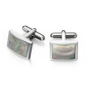 FRED BENNETT BLACK MOTHER OF PEARL CUFFLINKS V480