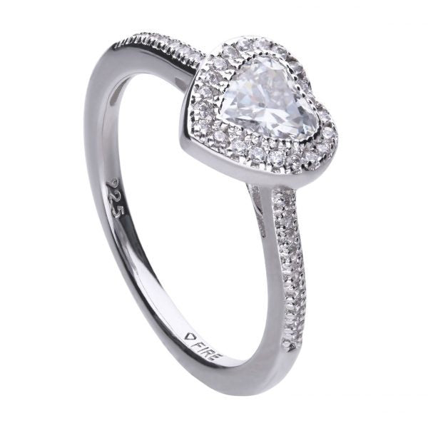 Diamonfire Heart Ring R3659 - Robert Openshaw Fine Jewellery