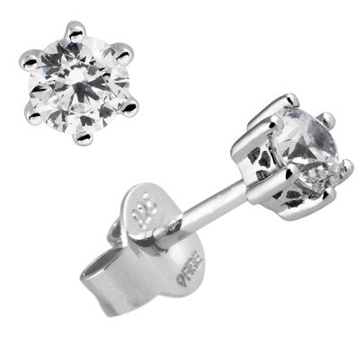 Diamonfire 6 Claw 3.00cts Solitaire Stud Earrings E5580