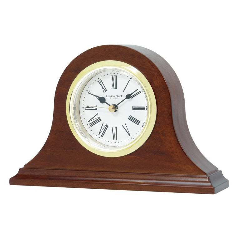 LONDON CLOCK CO DARK WOOD NAPOLEON MANTLE CLOCK 06318