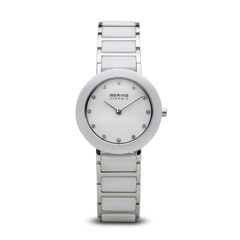 Bering Womans Ceramic Polished Silver Watch 11429-754 - Robert Openshaw Fine Jewellery