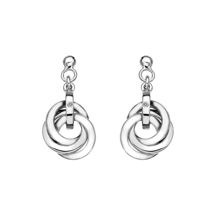Hot Diamonds Silver Calm Earrings DE388