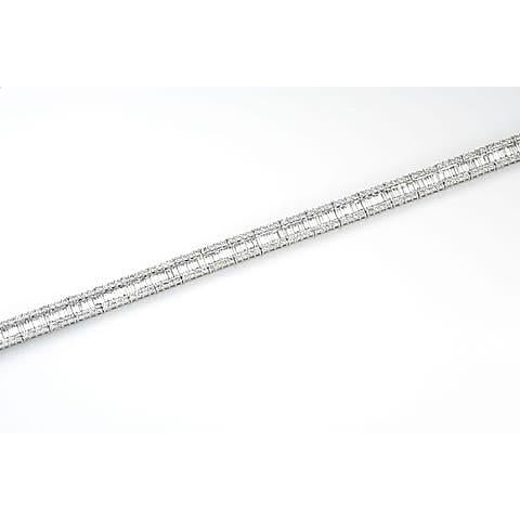 18ct white gold baguette & brilliant cut diamond bracelet bag4.71/brill2.82cts