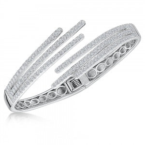 JOOLS 925 Triple Fingers Bangle OGB0536 - Robert Openshaw Fine Jewellery