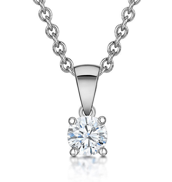 18ct White Gold 0.46CTS Diamond Necklace 30122014