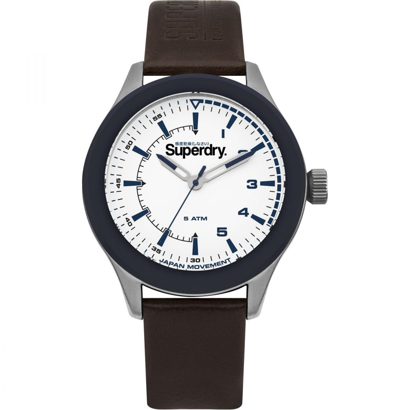 Superdry Rebel Challenger Brown Leather Watch SYG231BR - Robert Openshaw Fine Jewellery