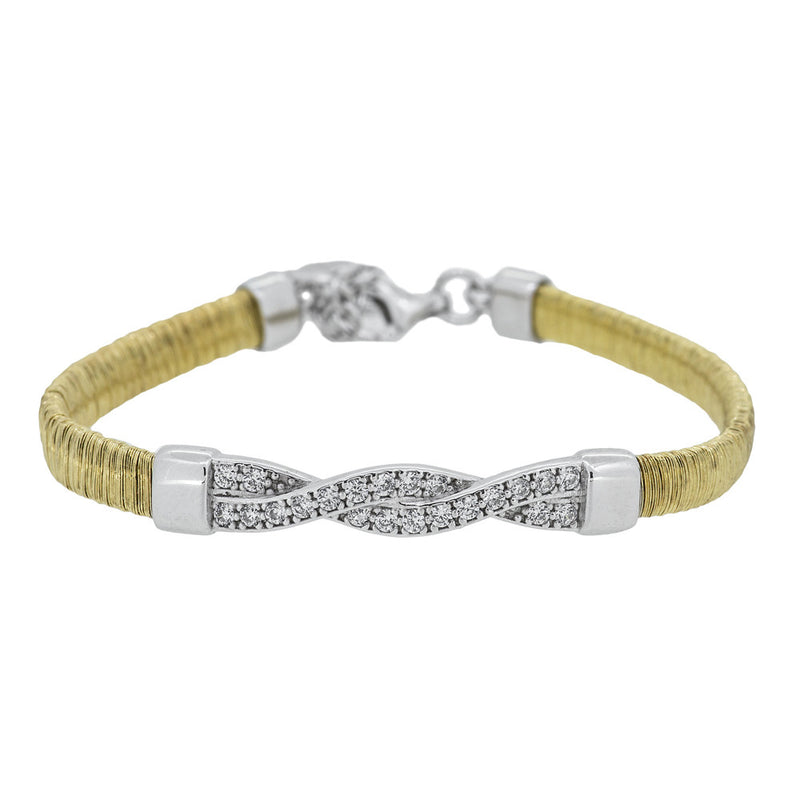 JOOLS SILVER & GOLD PLATED BRACELET CCB782-1YW - Robert Openshaw Fine Jewellery