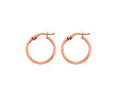 ROBERT OPENSHAW 9CT ROSE GOLD 10MM HOOPS RHE246 - Robert Openshaw Fine Jewellery