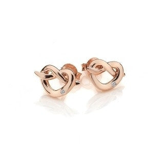 Hot Diamonds Infinity Heart Rose Gold Plate Earrings DE451