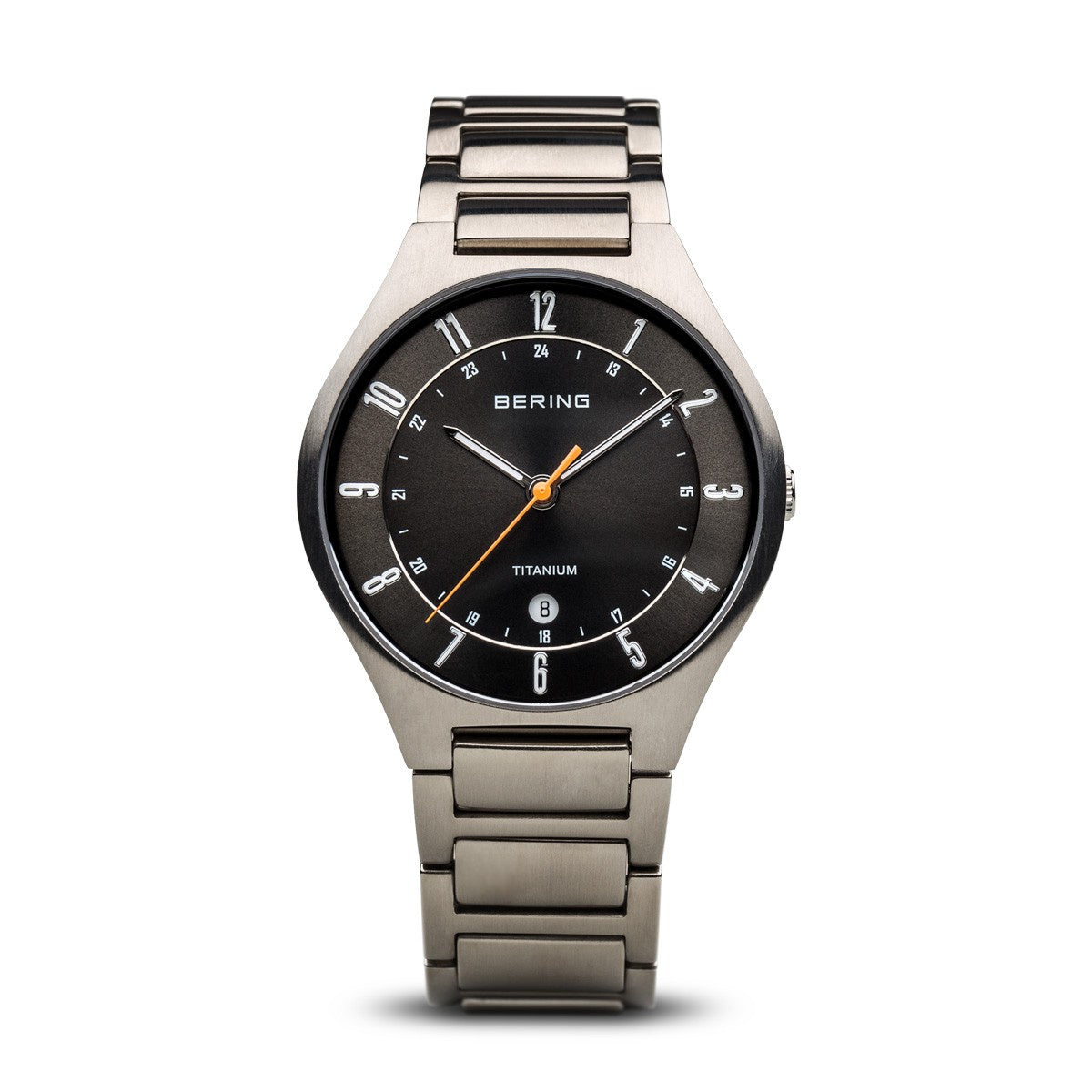 Bering Unisex Classic Titanium Brushed Silver Watch 11739-772 - Robert Openshaw Fine Jewellery
