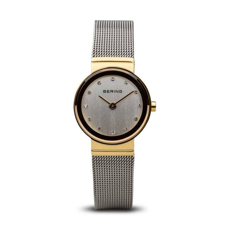 Bering Womans Classic Polished Gold Watch 10126-001