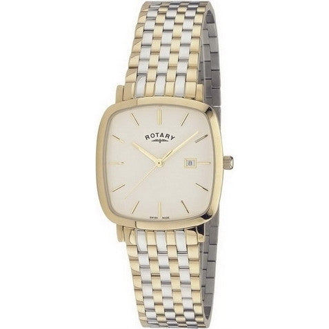 ROTARY GENTS TWO TONE BRACELET WATCH GB02401/02 - Robert Openshaw Fine Jewellery