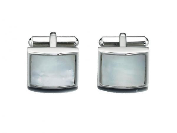 FRED BENNETT MOTHER OF PEARL CUFFLINKS V422 - Robert Openshaw Fine Jewellery